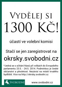 Svobodní – vydělej si 1300 v komisi!