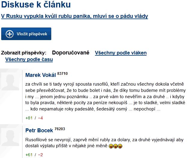 Diskuse o Rusku na iDnes.cz