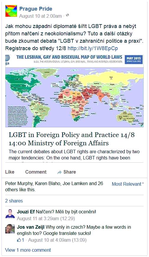 Jak mohou západní diplomaté šířit LGBT práva a nebýt přitom nařčeni z neokolonialismu?