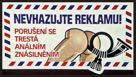 Nevhazujte reklamu, porušení se trestá