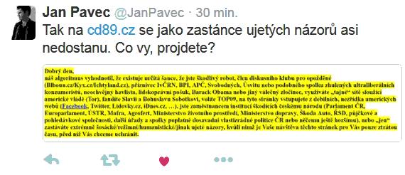 Jan Pavec neprojde
