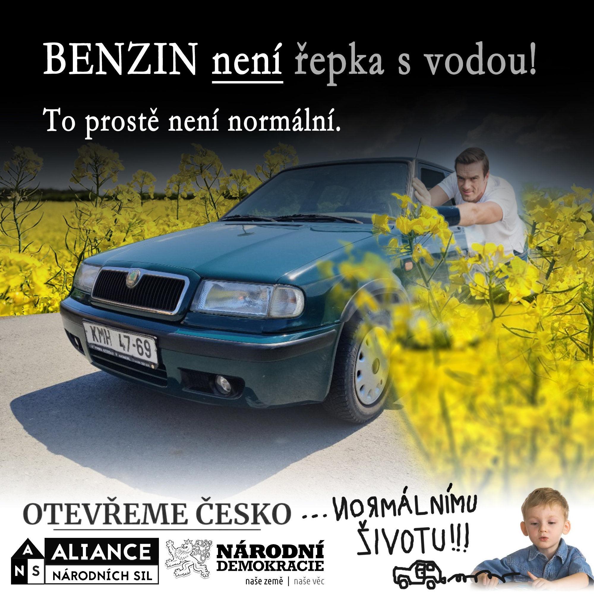 Benzín není řepka