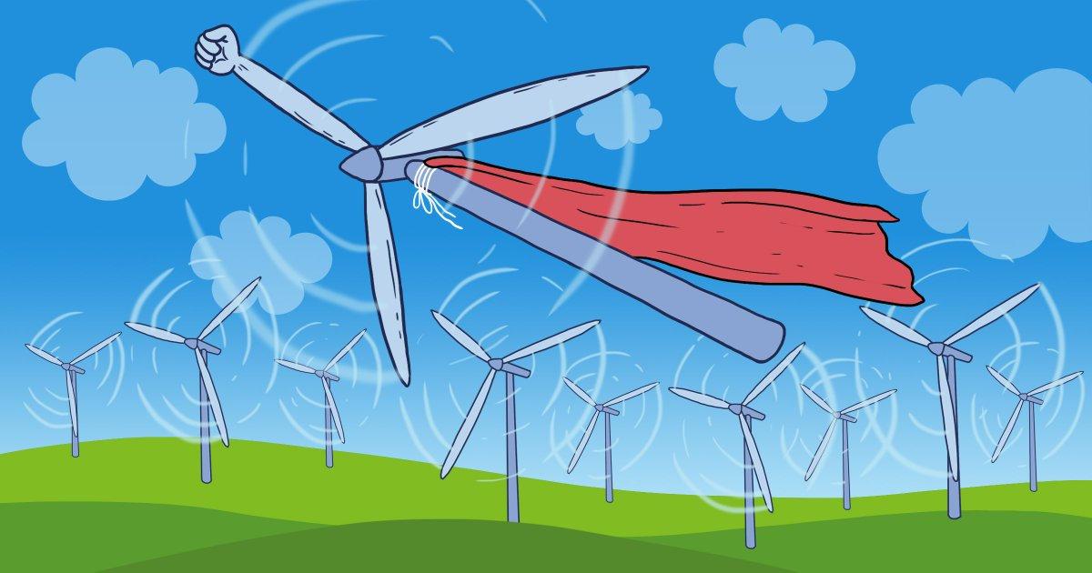 Větrník – superhrdina (wtf?). Foto: Internet