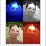 Obarvení původní modré fotky